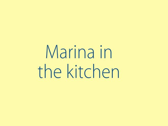 Marina in the Kitchen